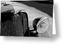 Chevrolet Grille Emblem - Head Light Greeting Card