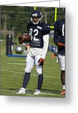 Chicago Bears Wr Chris Williams Training Camp 2014 01b Bw Greeting Card