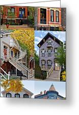 Chicago Historic Old Town Triangle Greeting Card by Christine Till