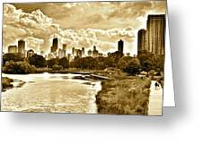Chicago In Sepia Greeting Card