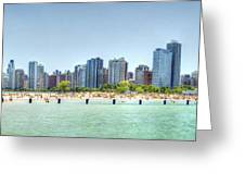 Chicago North Avenue Beach Greeting Card