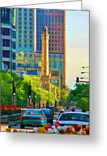 Chicago Water Tower Beacon Greeting Card