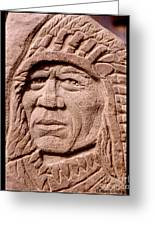 Chief-iron-tail Greeting Card