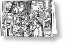 Childbirth, 1580 Greeting Card