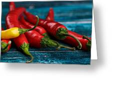 Chili Peppers Greeting Card by Nailia Schwarz