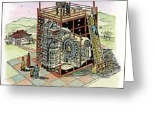 Chinese Astronomical Clocktower Built Greeting Card