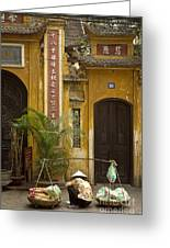 Chinese Temple In Hanoi Vietnam Greeting Card