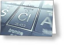 Chlorine Chemical Element Greeting Card