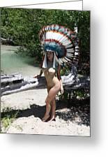 Chokoskee Island Fl. Indian 044 Greeting Card
