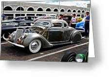 Chopped Ford Coupe Greeting Card by Steve McKinzie