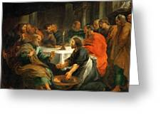 Christ Washing The Apostles' Feet Greeting Card