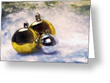 Christmas Balls Artistic Vintage Painting Greeting Card