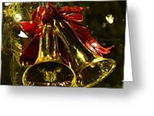 Christmas Bells Ornaments Faneuil Hall Tree Boston Greeting Card