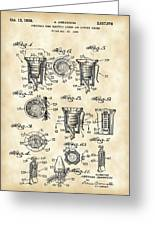 Christmas Bulb Socket Patent 1936 - Vintage Greeting Card