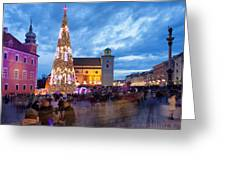 Christmas Time In Warsaw Greeting Card