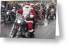 Christmas Toys For Tots Santa On Motorcycle Casa Grande Arizona 2004 Greeting Card