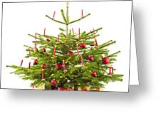 Christmas Tree Decorated With Presents Greeting Card