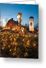 Christmas Village Decorations Greeting Card