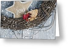 Christmas Wreath Greeting Card by Amanda Elwell