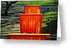 Christo - The Gates - Project For Central Park Greeting Card