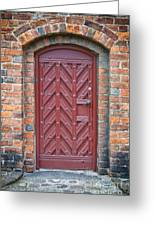 Church Door 02 Greeting Card by Antony McAulay