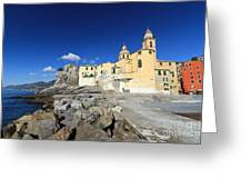 church in Camogli Greeting Card
