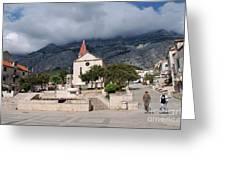 Church Of St.mark Makarska Greeting Card