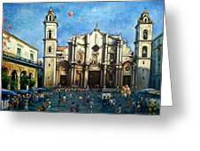 Church Square Havana Greeting Card