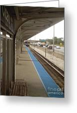 Cicero Cta Blue Line Greeting Card