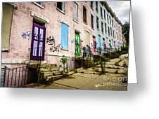 Cincinnati Glencoe-auburn Row Houses Picture Greeting Card