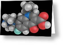 Ciprofloxacin Drug Molecule Greeting Card