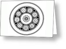 Circle Motif 138 Greeting Card