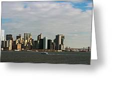 City At The Waterfront, New York City Greeting Card
