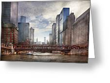 City - Chicago Il - Looking Toward The Future Greeting Card