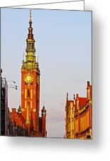 City Hall In Gdansk Greeting Card