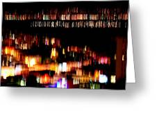 City Lights Greeting Card by Mamie Gunning