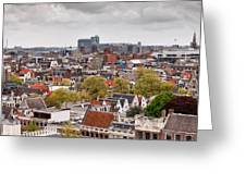 City Of Amsterdam From Above Greeting Card