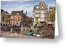 City Of Amsterdam In Netherlands Greeting Card