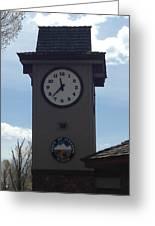City Of Jackson Hole Clock Greeting Card