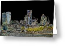 City Of London Art Greeting Card