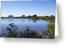 City Of Melbourne On The Intracoastal Waterway In Central Florid Greeting Card