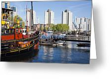 City Of Rotterdam Cityscape In Netherlands Greeting Card