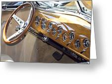 Classic Car Interior Greeting Card