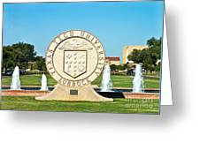 Classical Image Of The Texas Tech University Seal  Greeting Card