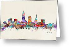 Cleveland Ohio Skyline Greeting Card
