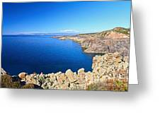 cliff in San Pietro Island Greeting Card