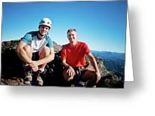 Climbing Foley Peak Greeting Card