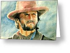 Clint Eastwood Greeting Card by Nitesh Kumar