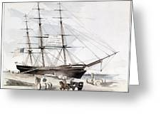 Clipper Flying Cloud, 1851 Greeting Card