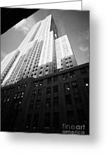 Close In Shot Of The Empire State Building New York City Greeting Card